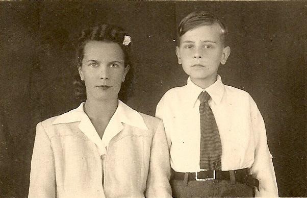 Bohdan Janiszowski z matką Ireną