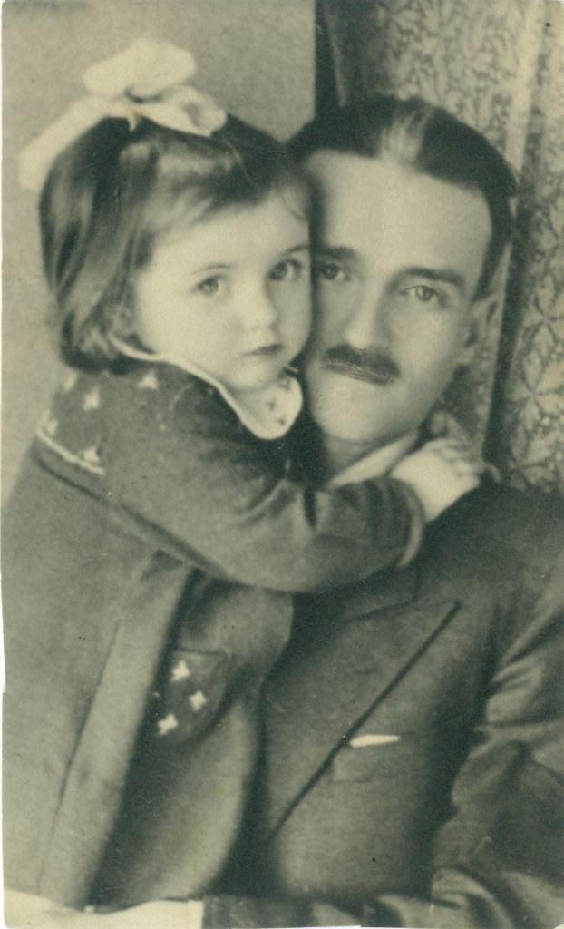 Elżbieta Gutowska-Niedzialek z ojcem Janem Stawiskim